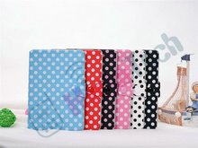 Color Dot Wallet Leather Case for iPad Mini with Buckle,For iPad Mini Dot Book Style Wallet Leather Case,With Card Slot & Buckle