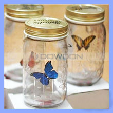 17cm Height Glass Electronic Butterfly In a Jar