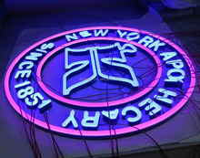 Arcylic translucent illuminated neon signage face LED lighting logos colorful front lit neon letter sign for advertising