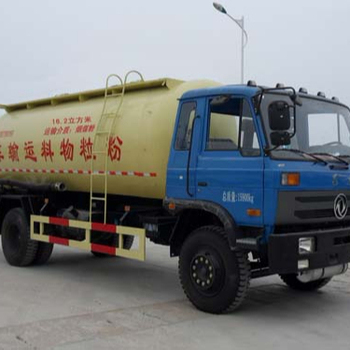 China famous brand 4*2 dry bulk cement truck powder material transport vehicle
