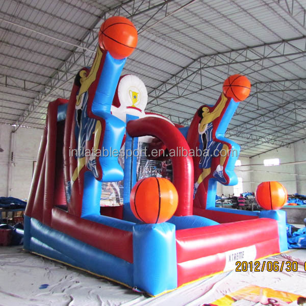 inflatable basketball shooting games/inflatable basketball backboard/inflatable basketball sports