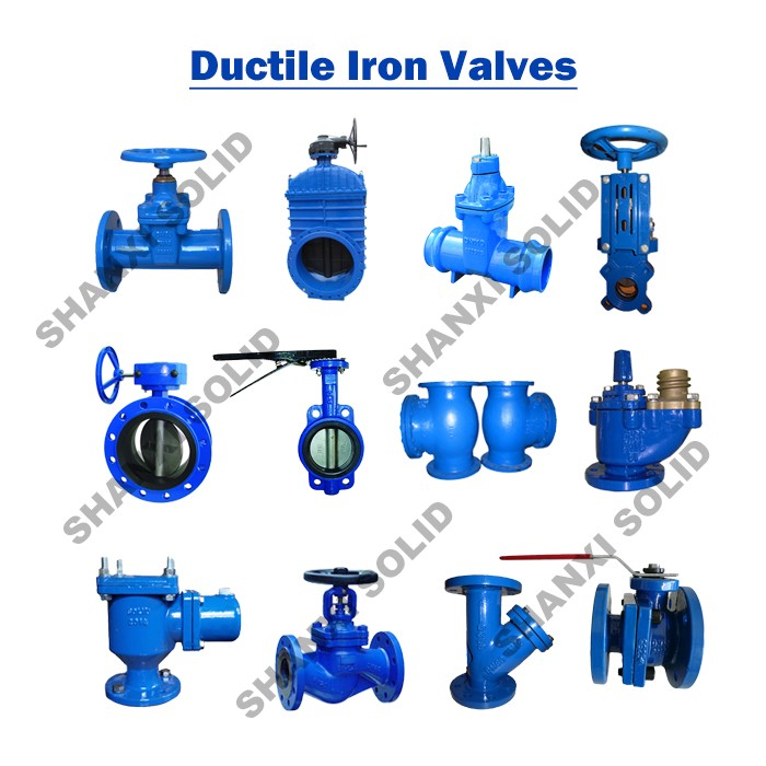 PN10 PN16 Hand wheel Resilient Seated Cast Iron Flanged Gate Valve