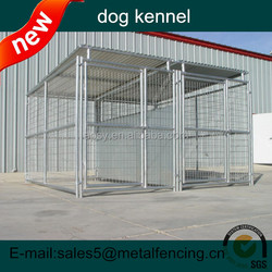 Metal wire mesh dog kennels with roof and 2runs
