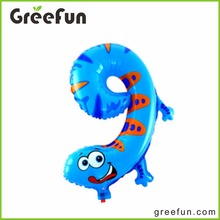 9 Digital Number Animal Designs Large Helium Balloons Cute Custom High Quality Water Balloon Foil Balloon For Wholesale