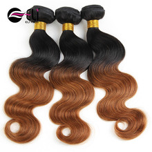 virgin Brazilian hair extension, 100 human hair, remy hair extension brazilian human hair extension 1B30 ombre color
