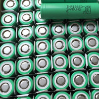 Genuine samsung 25r green 3.7v High drain Samsung 25R New Green Wrap 20A 25R5 2500mAh 18650 samsung 25r green