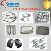 Trade assurance supplier wholesale TOYOTA HILUX VIGO 2005- full chromed kits 21 pcs/set full sets car 4x4 accessories