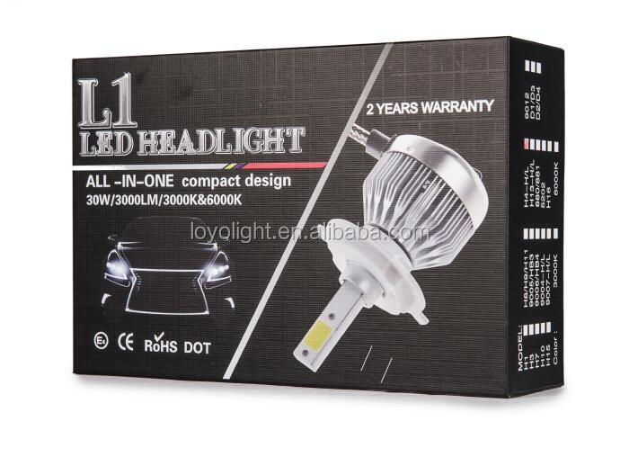 30w led headlight lamp h11 single beam small headlight car 360 degree lighting