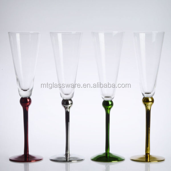 New Arrive Handmade Silver Plated Wine Glass With Silver