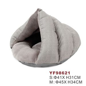 Hot sale novelty luxury warm soft cat pet sleeping bed cave
