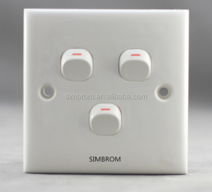 SIMBROM soft touch reset wall switch and socket