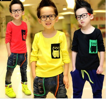 Wholesale European Child Clothes Printing Design Boys Custom T Shirt