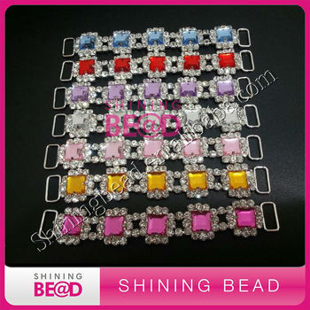 Colorful rhinestone connector for headband