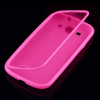 Soft TPU Gel Wrap Up 2 In 1 Protective Ultra Slim Fit Screen Touch Flip Case Cover for Samsung Galaxy S3 I9300