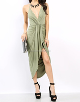MIKA4027 Sexy backless ITY women plus cocktail dress