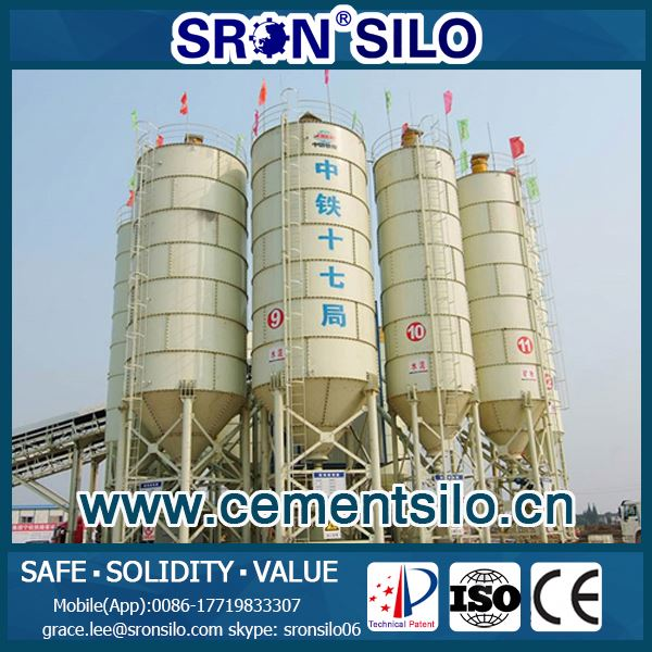 Extreme Solid 500 ton Cement Silo for sale from China Leading Silo Manufacture