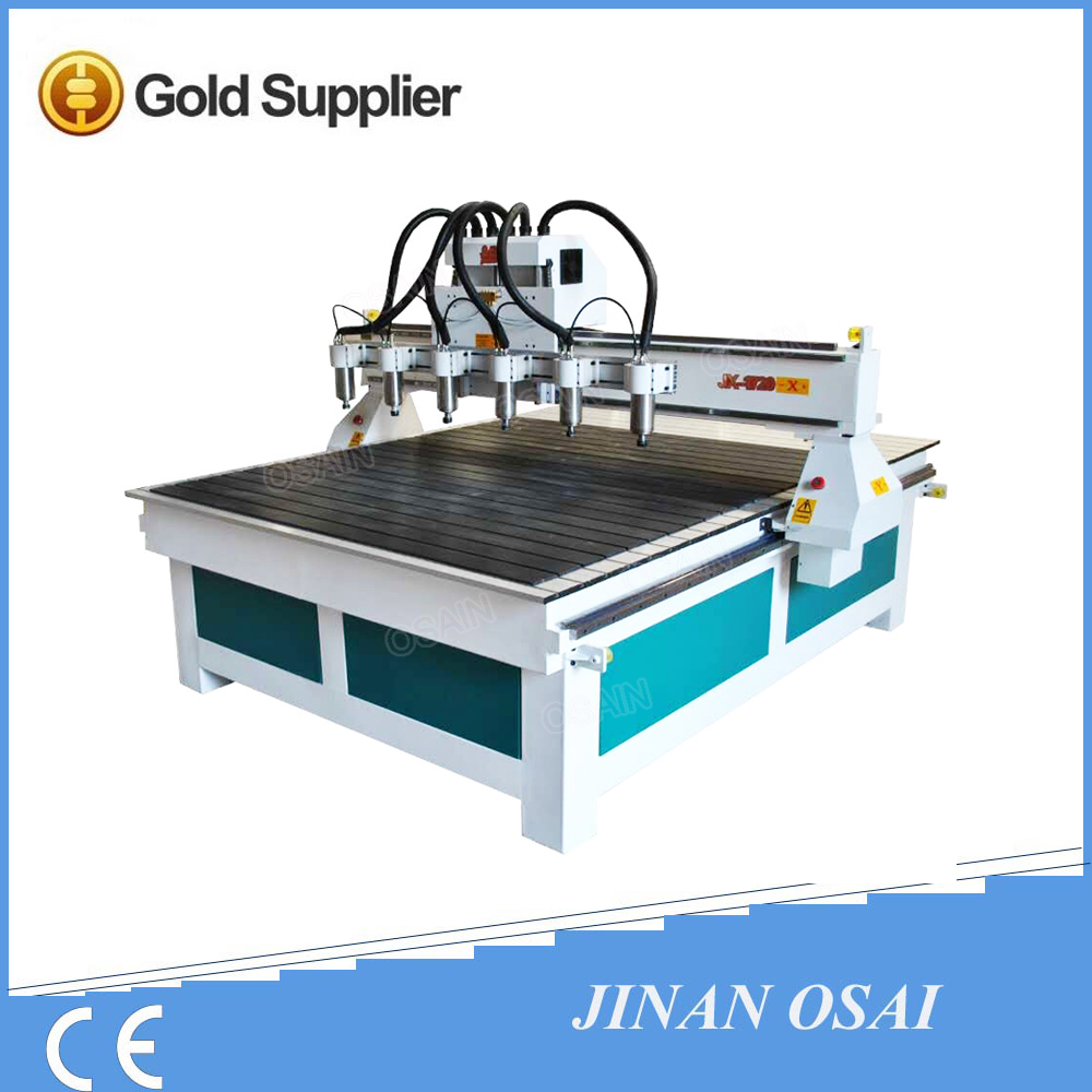 China OSAIN Multi Heads Wood CNC Router / Mould Carving CNC Router 3D Scanner