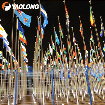 rust proofing polished surface round conical metal flag pole