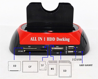 2.5/3.5 inch 2 SATA Horizontal Mobile HDD Docking Station HARD DRIVE DISK DOCK DOCKING STATION ALL IN ONE