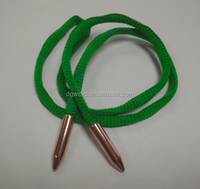 Shoelace With Metal Tips Logo Imprint