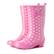 Hotsales Fashion Neoprene Wellingtons Printed Ladies Half Rubber Rain Boots