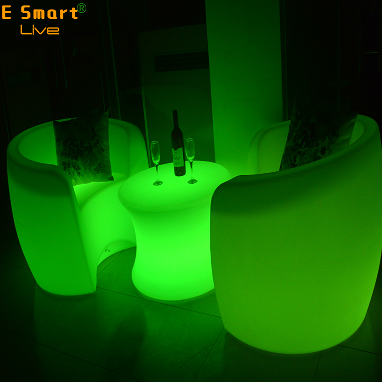 new design robot table lamp color change for party glowing square table