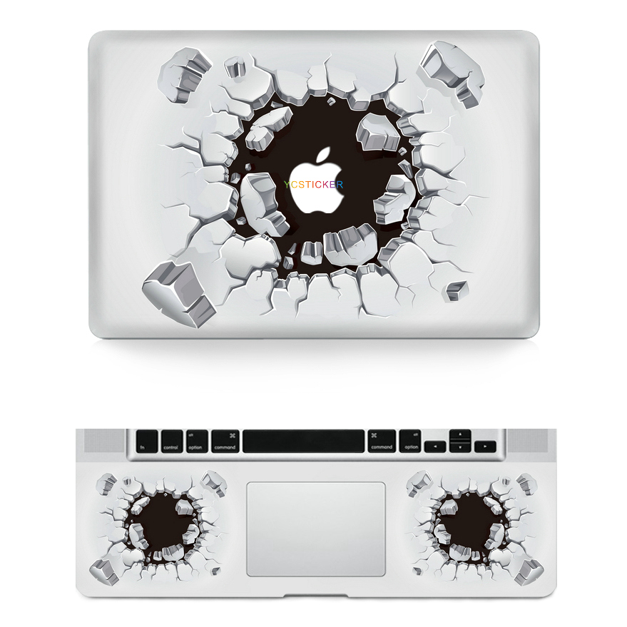 new designs for macbook accessories reusable vinyl decal waterproof removable adhesive sticker for macbook