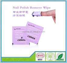 Beautiful nail wipes for lady with high quality
