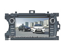 dual zone 7 inch special car DVD Player for toyota Yaris 2012 for America/Europe with GPS BT TV steering wheel control