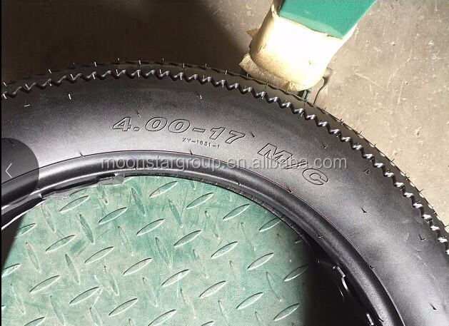 Sawtooth motorcycle tyre and tube 4.00-17