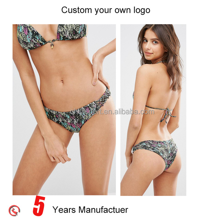 Custom young girls hot sexy brazilian plus size bikini swimwear