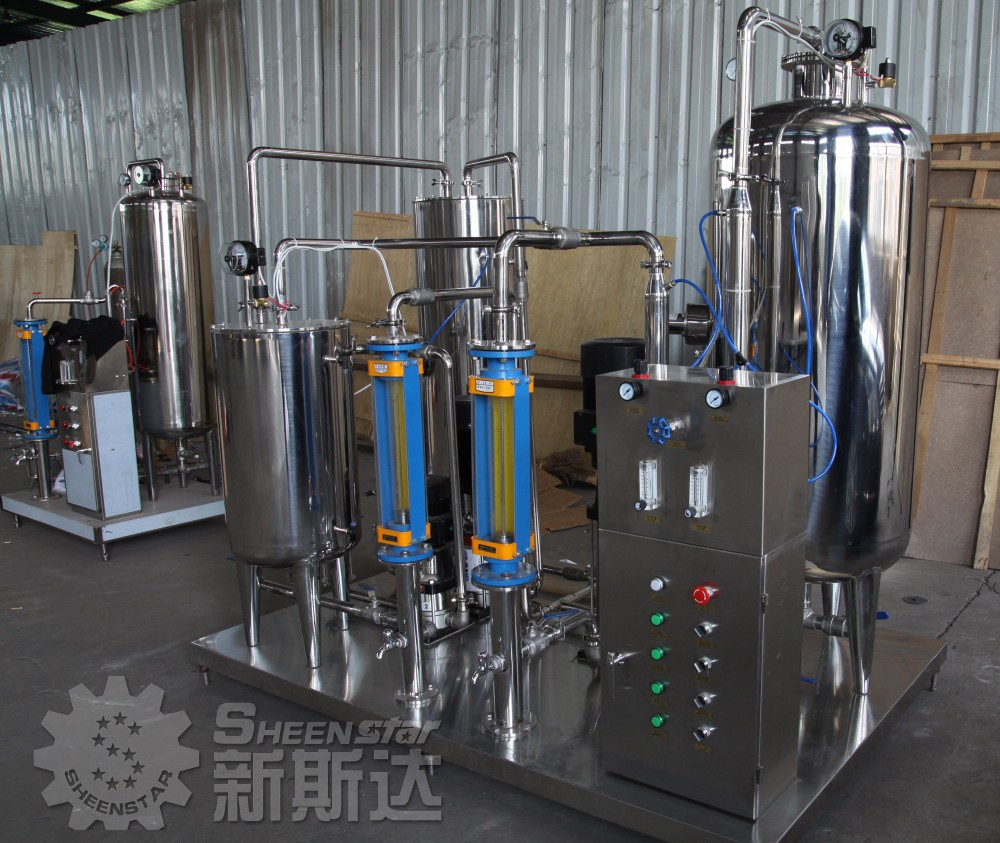 Carbonated drink/beverage auxiliary mixing tank