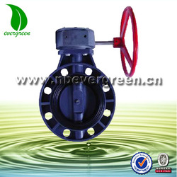 gear operated PVC butterfly valves