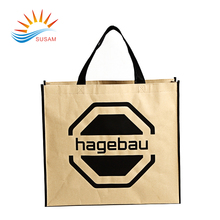 Logo printed non woven fabric laminated bag for grocery