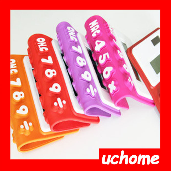 UCHOME Promotional Cheap Flexible Silicone Calculator With Logo Printed