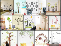 Factory sale high quality custom supply various room decor removable paper fairy wall stickers vinyl decals wall