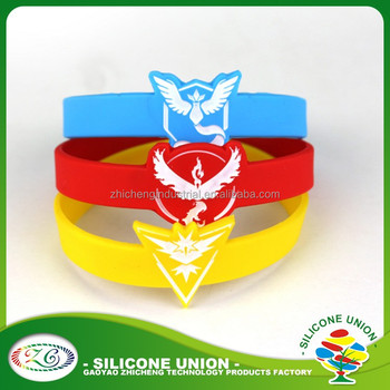 silicone wristbands Team Mystic Valor Instinct Fashion pocket monster Go Bracelets