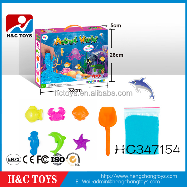 Happy kid diy sand toy ocean animal magic sand toys for kids HC347154