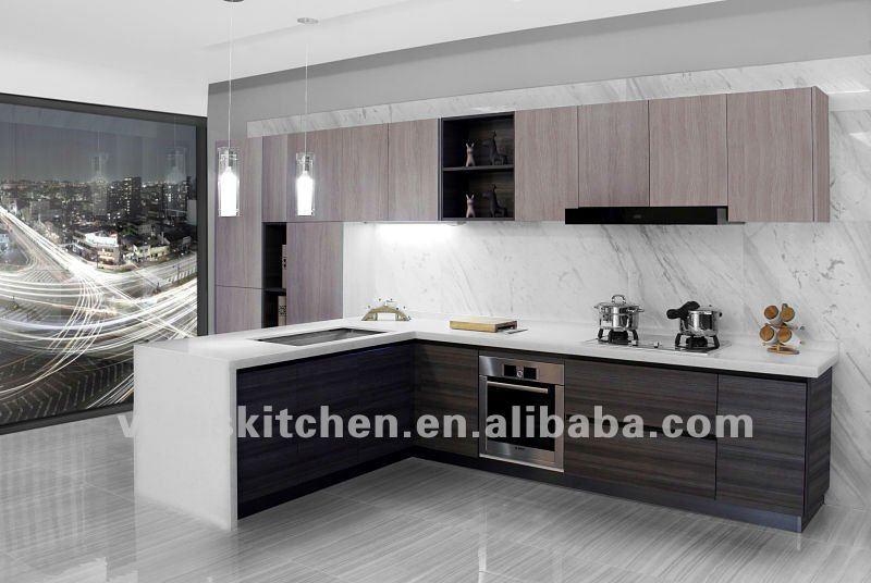 Melamina moderna mobili da cucina con isola armadio id prodotto 676979896 - Melamina mobili ...