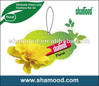 Shamood Manufacturer Paper Car Air Freshener