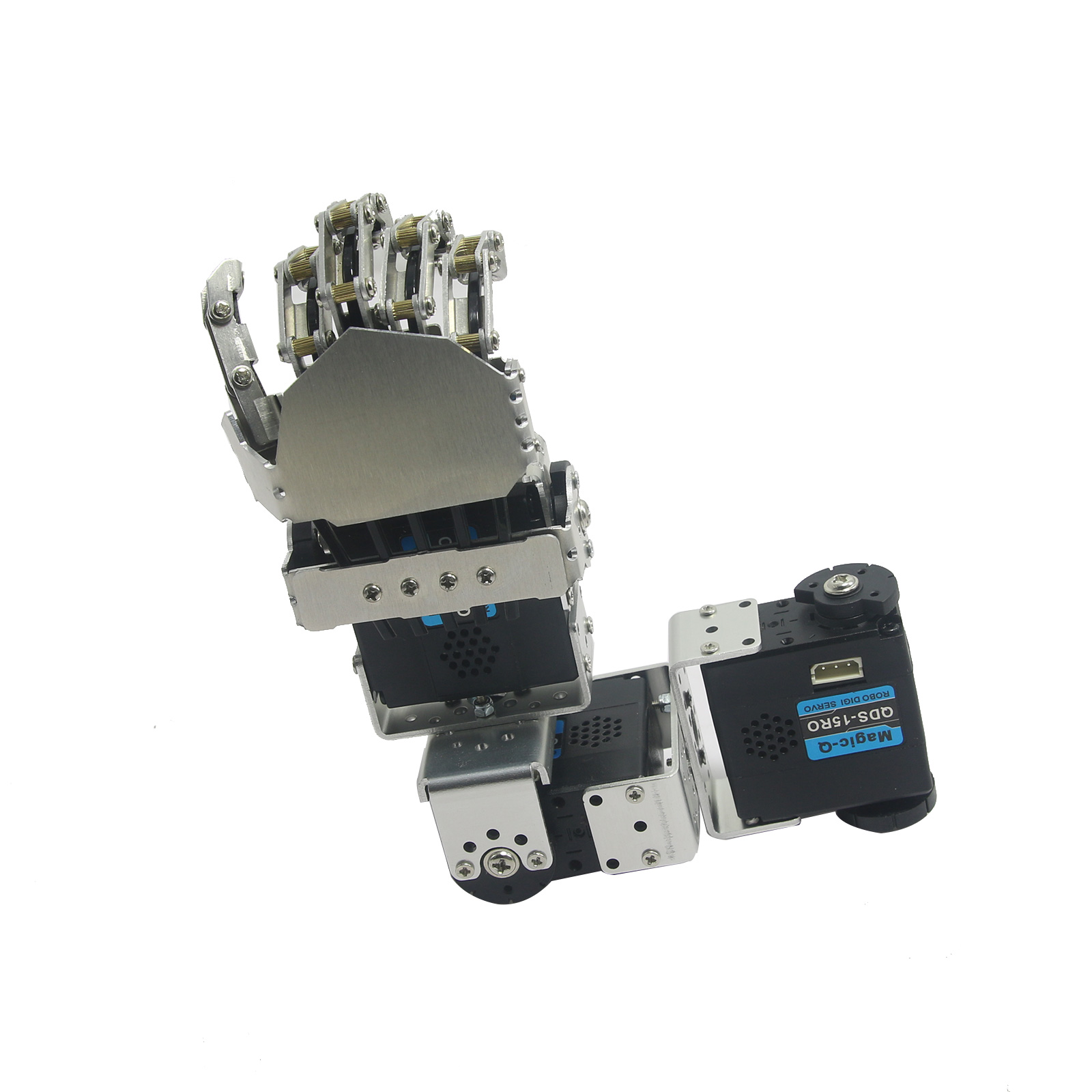 Humanoid Robot Left Hand Arm with Fingers Manipulator & Servo for DIY Robotics