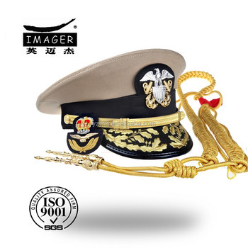 Customize military strategic missile artillery fleet admiral headwear with free samples