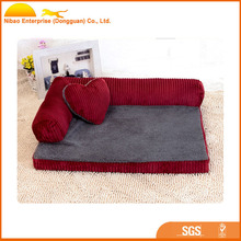 High Quality Pet Product Soft Bolster Dog Bed