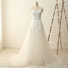 2017 Lace Appliques Sequined Best Price Bridal Wedding Dress