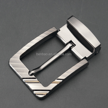 2017 new product online 35mm metal buckle zinc heavy die cast two color laser clip buckle with needle