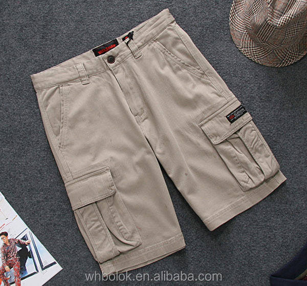 Fashionable shorts for men soft cotton man summer cargo shorts