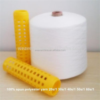100% Spun Polyester Yarn For Sewing knitting weaving