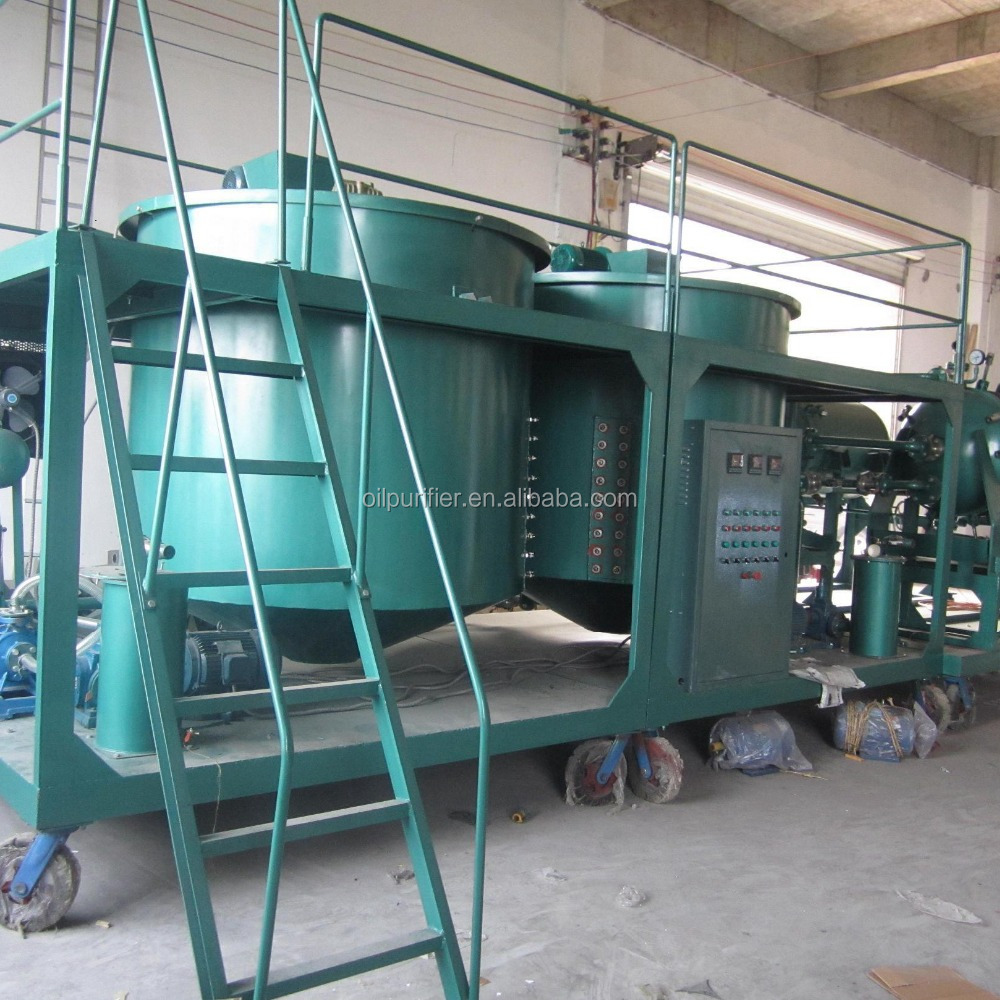 Model LYE Waste car oil recycling machine / Black engine oil regeneration purifier/fuel water separator