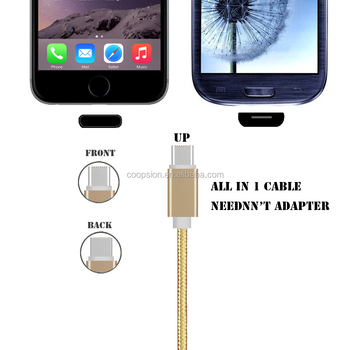 Combo multipurpose data cable for iphone & android