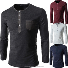 Adult clothes long sleeve t-shirts for man Button polo shirts cotton clothing Promote Uniform Wholesale Mens Apparel Polo Tshirt